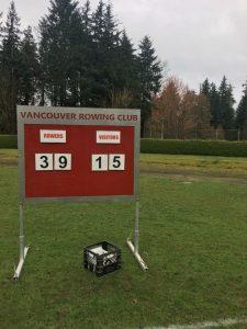 Rowers take last regular season home game with 39-15 win